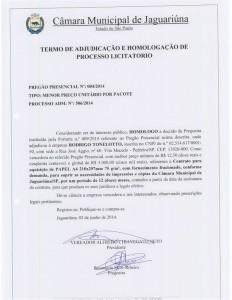 Pregão Presencial 003/2014 (Licitação Deserta)