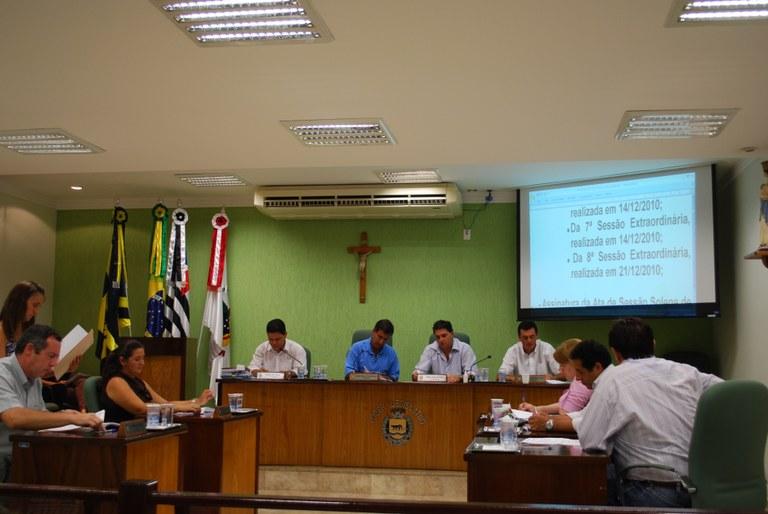 Vereadores definem as comissões permanentes para 2011-2012