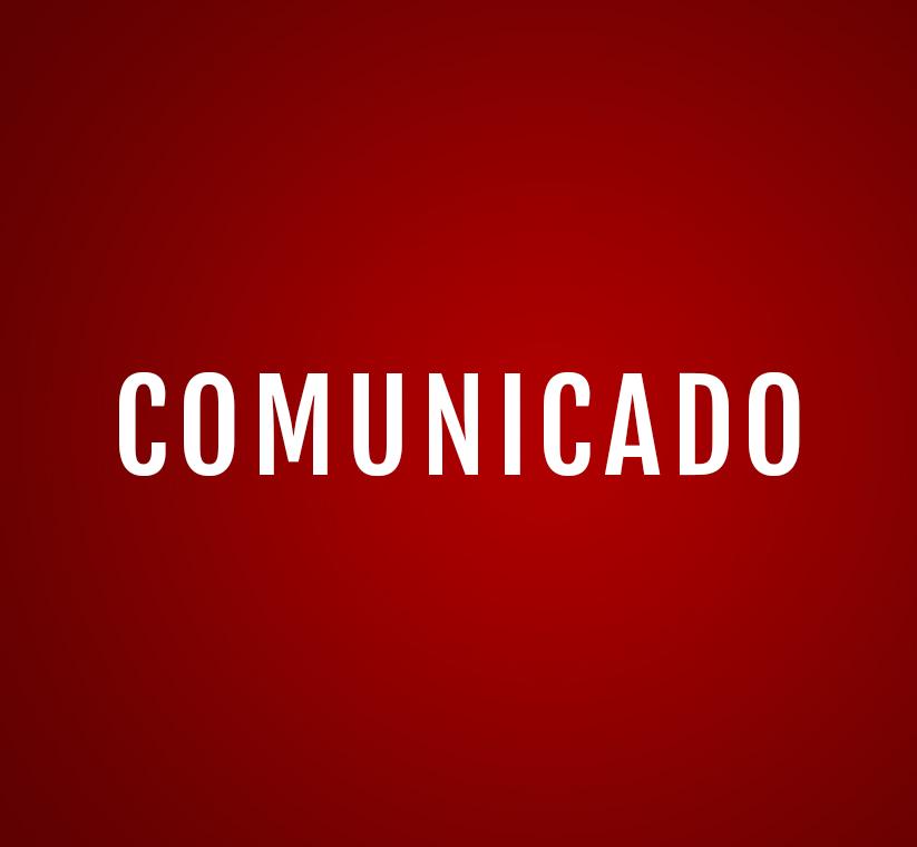 Comunicado - Sessão Extraordinária