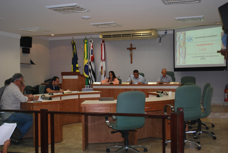 Diretrizes Orçamentárias para 2019 foram discutidas em audiência pública na Câmara Municipal